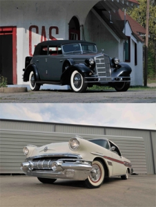 1934 Cadillac Fleetwood V12 All-Weather Phaeton; 1957 Pontiac Bonneville